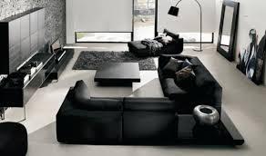 déco canapé noir decoration déco moderne noir blanc canape angle salon déco