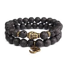 black onyx beads bracelet images Natural 8mm lava stone beads bracelet black onyx tibetan buddha jpg