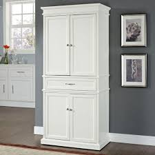 kitchen storage cabinets with doors crosley parsons white storage cabinet cf3100 wh the home depot