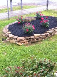 Rock Garden Beds Rock Flower Bed Robinsuites Co