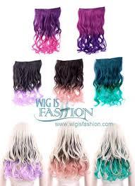 purple hair extensions wavy blue purple pink green clip on hair hair extension fp