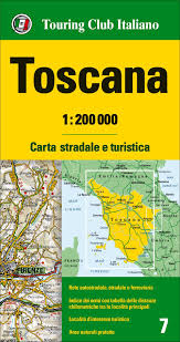 Large Siena Maps For Free by Tuscany Toscana Regional Road Map 1 200 000 Touring Club