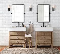 Reclaimed Wood Bathroom Mirror Reclaimed Wood Single Sink Console Wax Pine Finish