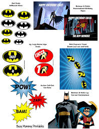 batman u0026 robin party package sale printables with