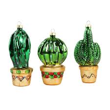 cactus baubles set of three christmas cactus cacti and ornament