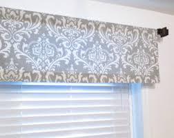 handmade window treatments storm grey damask window valance rod pocket curtain handmade in