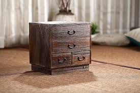 storage cabinets for living room japanese antique wooden 4 drawer cabinet paulownia wood asian