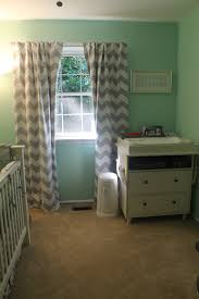 Unisex Nursery Curtains mint green grey chevron mustache nursery mj pinterest
