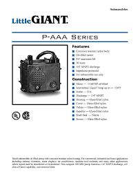 little giant 523003 p aaa 115 volt 120 gph manual submersible