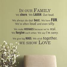 Silly Love Quote by In Our Family We Show Love Wall Quotes Decal Wallquotes Com