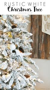 flocked white christmas tree cherished bliss