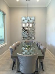 Velvet Dining Room Chairs By Design Interiors Inc Houston Interior Design Firm Intended