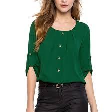 green chiffon blouse 2017 trendy green chiffon blouse summer style