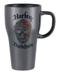 silver mug harley davidson metallic skull ceramic latte mug 15 oz silver