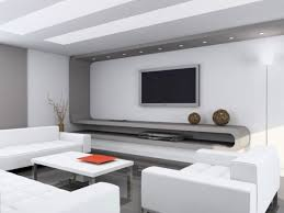 interior modern home interior with bright white wall and ceilng