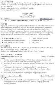 sample finance resume entry level u2013 topshoppingnetwork com