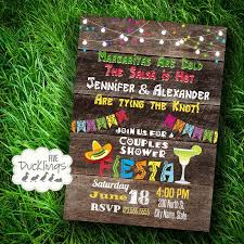 Couple S Shower Invitations Fiesta Couples Shower Invitation Mexican Party Invite Printable
