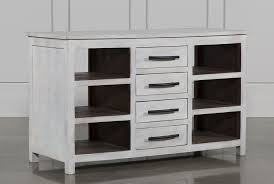kitchen island living spaces otb white wash 8 drawer kitchen island