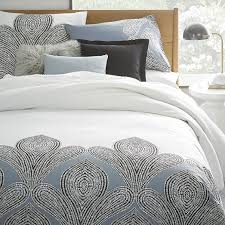 West Elm Duvet Covers Sale 400 Thread Count Organic Fleur Sateen Duvet Cover West Elm