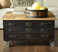 Coffee Table With Wheels Pottery Barn - pottery barn coffee table with drawers