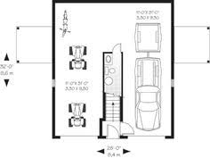 detached garage floor plans 1st level garage 796 sq ft 74 64 sq m and bathroom 2nd level