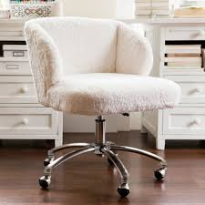 faux fur desk chair ivory sherpa faux fur wingback desk chair pbteen