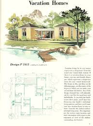 vacation cabin plans vintage house plans vacation homes 1960s vacation homes