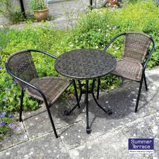 Modern Outdoor Round Table Furniture Interesting Bistro Set For Modern Outdoor Room Design