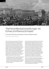 the french revolution and europe its echoes its influence its