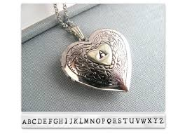 personalized heart locket personalized heart locket necklace silver locket gift plated