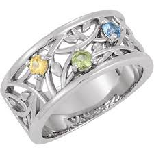 3 mothers ring silver 3 to 5 stones s ring