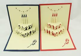 birthday cake pop up card 3d kirigami birthday card handmade
