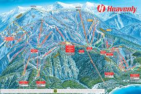 Map Of Utah Ski Resorts by Skiing Trails At Heavenly Ski Resort In California Usa Today