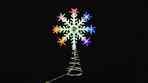 xs0809 led colour changing snowflake tree topper youtube