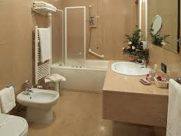 Simple Bathroom Bathroom Floating Vanity And Towel Warmer With Tub Shower For