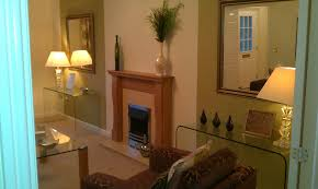 brown fireplace and table lamps free image peakpx