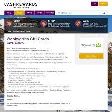 play egift card woolworths wish e gift cards 5 25 at cashrewards ozbargain
