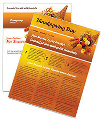 thanksgiving newsletter template design id 0000000721