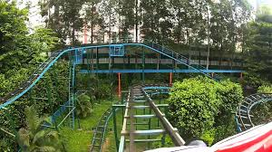 backyard theme park random crappy chinese jungle mouse roller coaster pov guangzhou
