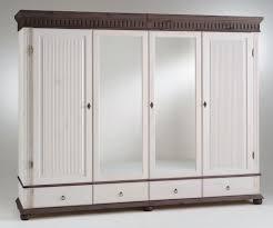 Schlafzimmerschrank Oslo Kleiderschrank Massivholz Weiß Mit Spiegel Innenarchitektur Und