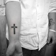 simple cross tattoos for on arm creativefan