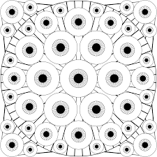 pair of eye coloring page