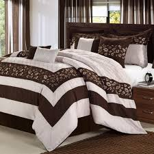 Burgundy And Brown Comforter Set Burgundy Black Queen 10 Pieces Comforter Set Bed In A Bag New