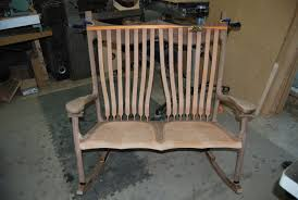 paul u0027s sculpted double rocking chair the wood whisperer