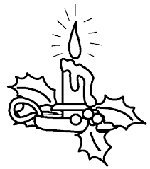 lovely decoration christmas candle coloring pages download