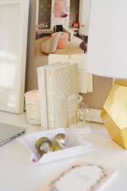 White Acrylic Desk by Chic White And Gold Desk Styling U2013 The House Of Grace