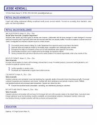 Resume Samples With Summary by Resume Examples Resume Templates For Retail Sales Associate
