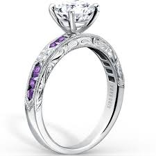 purple diamond engagement rings kirk kara purple amethyst diamond engagement ring