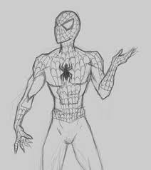 drawing marvel spiderman jpg 500 562 drawing pinterest