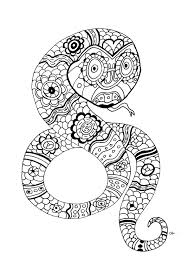 the snake by oliv animals coloring pages for adults justcolor